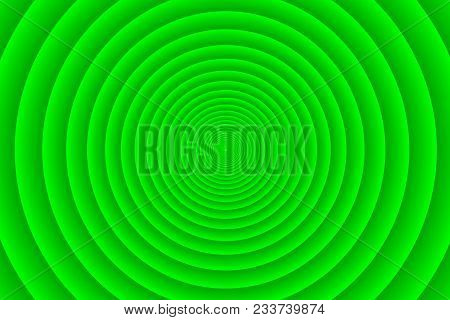 Concentric Circle Elements Pattern, Green Color Ring, Circle Spin Target,