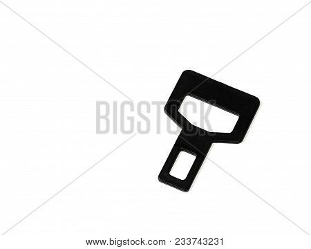 False Car Safety Belt Buckle Isolated On White Background, Insecurity, Not Secured Person In Vehicle