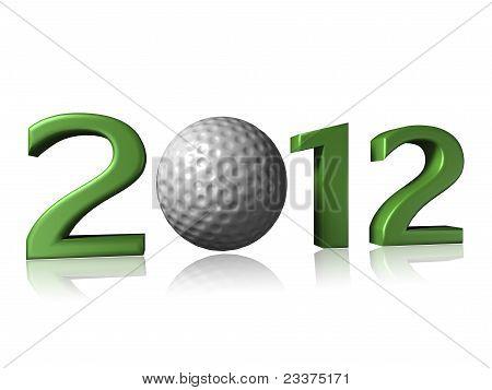 2012 Golf Design On White Background