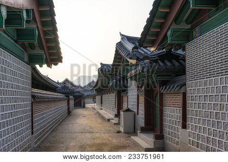 Historic Korean Architecture In Gyeongbokgung Palace