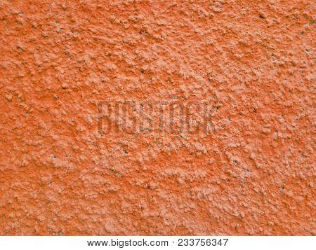 Сoncrete Orange Plastered Wall. Ginger Orange Plastered Wall Texture Grunge Background. Beautiful De