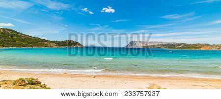 Colorful Shore In Capo Coda Cavallo. Sardinia, Italy