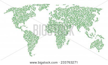 Global Concept Map Composed Of Yes Design Elements. Vector Yes Scatter Flat Design Elements Are Comb