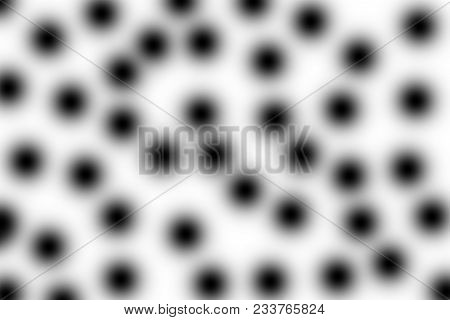 Black Dots On White  Background, Looking Close Making Dizziness