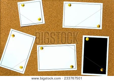 Wood Board Bulletin Cover Paper White Background
