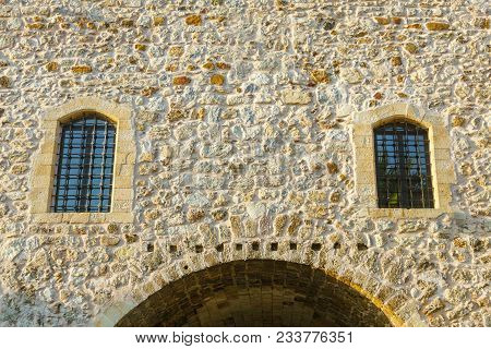 Windows On The Facade Of The Fortress With An Arch. Fortress Of Suleyman The Magnificent. Mugla Prov