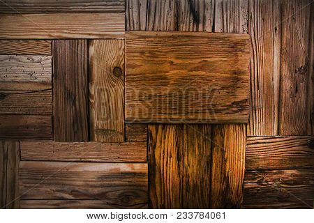Extraordinary Wooden Vintage Texture. Wooden Wall Background. Unusual Wooden Background. Wooden Fenc
