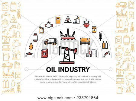 Oil Industry Composition With Derrick Can Truck Water Platform Tanker Factory Pipe Valve Tanker Barr