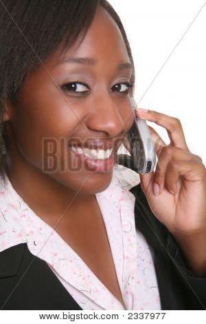 Business-Frau am Telefon