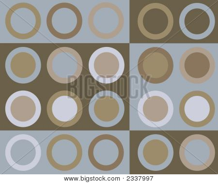 Retro blue and brown circles graphic design background poster