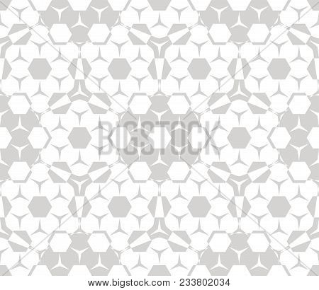 Subtle Vector Seamless Pattern. Modern Stylish Texture. Geometric Tiles With Hexagonal Elements. Sim