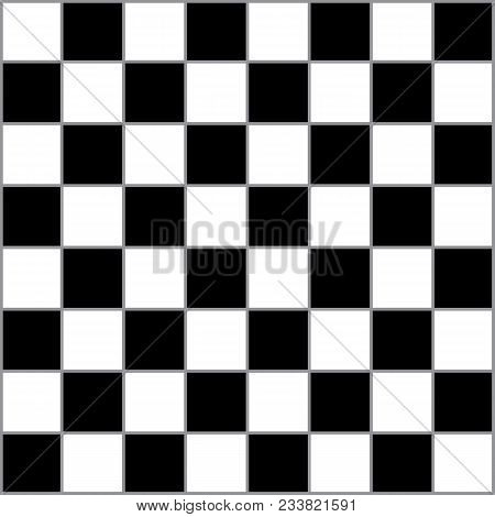 Chess Table Classic With Gray Bordered Squares Competition Ready Solid Black And Solid White Collore