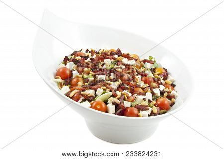 Healthy Fresh Salad Variation Mix Isolated Over White