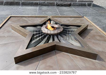 Ukraine, Kharkiv - August 21, 2012: Eternal Flame At Memorial Of Glory In Khark³v, Ukraine