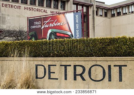 Detroit, Michigan, Usa - March 29, 2018: Exterior Of The Detroit Historical Museum. The Museum Offer