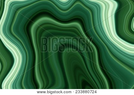 Colorful Paintings Of Marbling, Green Marble Ink Pattern Texture Abstract Background. Can Be Used Fo