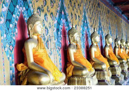 View of Wat Arun Temple, in Bangkok, Thailand.