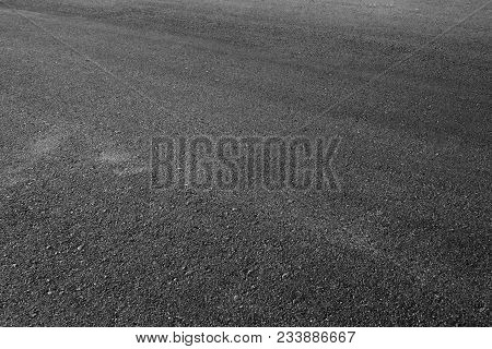 Black Asphalt Texture. Asphalt Road. Stone Asphalt Texture Background Black Granite Gravel