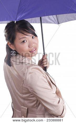 Stylish Woman Holding Umbrella