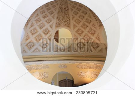 St. Petersburg, Russia - March 5, 2018: Antique Historical Building Interior Architecture With Round