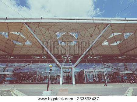 Stansted, Uk - Circa June 2017: London Stansted Airport Design By Architect Lord Norman Foster