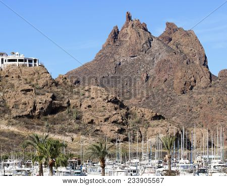 San Carlos, Mexico, March 13. The Old San Carlos Marina On March 13, 2018, In Guaymas, Sonora, Mexic