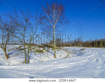 Endless Expanses In Snow-covered Latgale, In Winter 2018.