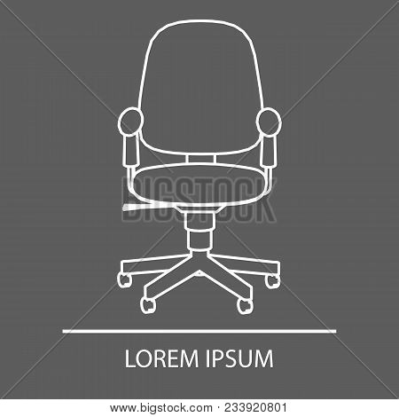 Office Chair Linear Design. Logo Office Chair. The Emblem Of An Office Chair. Company S Logo. Banner