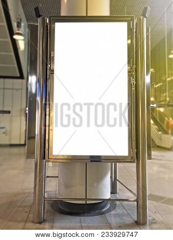 Train Station Infomercial Screen Mock-up Clipping Path
