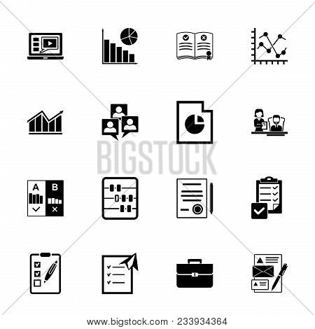 Management Icon Set. Can Be Used For Topics Like Data, Expertise, Document, Paperwork