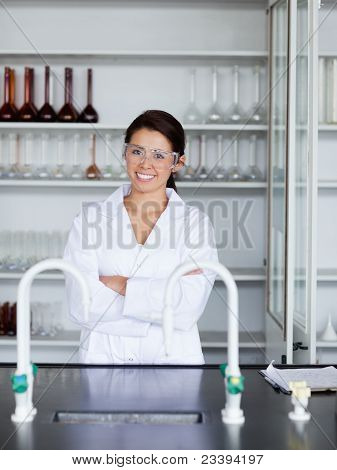 Portrait Of A Smiling Science Student Posing