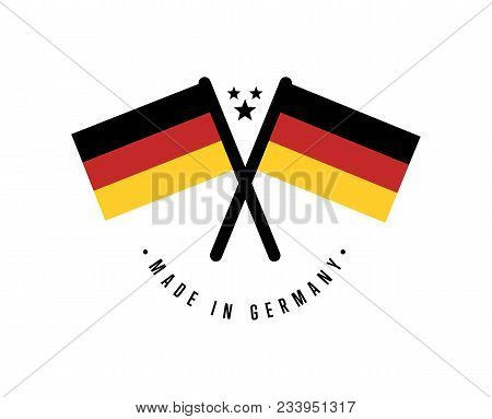 Made In Germany Certificate Element For Products Illustration Isolated On White Background. Exportin