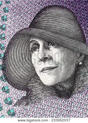 Karen Blixen Portrait From Danish Money - Kroner