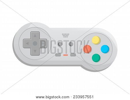 Modern Wireless Joystick For Game Console Icon In Cartoon Style. Game Gadget, Cybersport Digital Dev