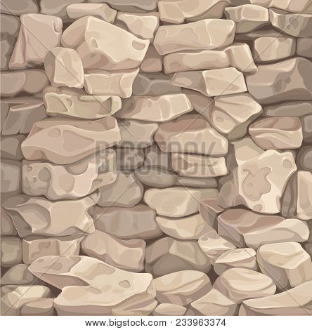 Stone Wall. Background From Stone Sandstone