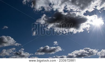 Clouds And Sun Over The Coutry Hessen In Germany