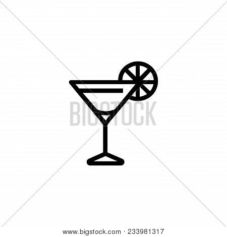 Icon Of Cosmopolitan Cocktail. Beverage, Liquor, Bar. Alcohol Drink Concept. Can Be Used For Topics