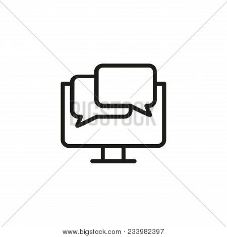 Icon Of Online Communication. Speech Bubbles, Conversation, Computer. Correspondence Concept. Can Be