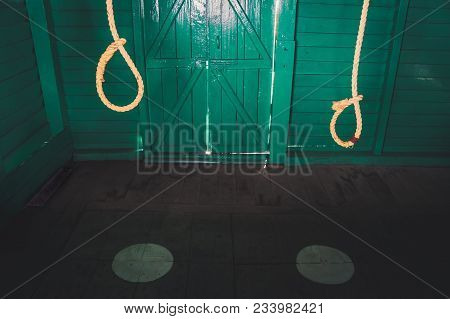 Gallows Used By The Cruel British In The Cellular Jail To Exterminate Indian Political Leaders. Thre
