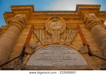Entrance Gate Fortaleza De San Carlos De La Cabana, Fort Of Saint Charles Entrance. Located On The E