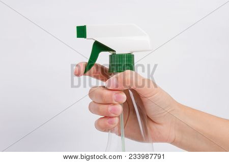 Hand Holds A Green Spay High Quality