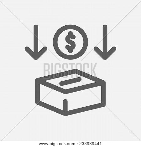 Investment Services Icon Line Symbol. Isolated Vector Illustration Of  Icon Sign Concept For Your We