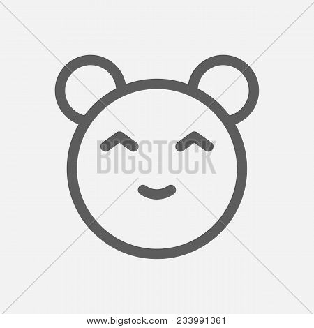 Anime Cartoon Kawaii Icon Line Symbol. Isolated Vector Illustration Of Anime Comic Face Sign Concept