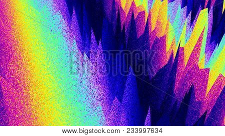 Retro Abstract Background. Fluorescent. Vibrant Colors Grunge. Colorful Noise. Trendy Wallpaper. Mul