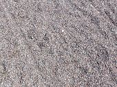 a pile of fine granite gravel of gray and red color, shallow fraction poster