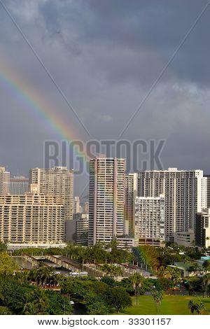 Rainbow in Waikiki