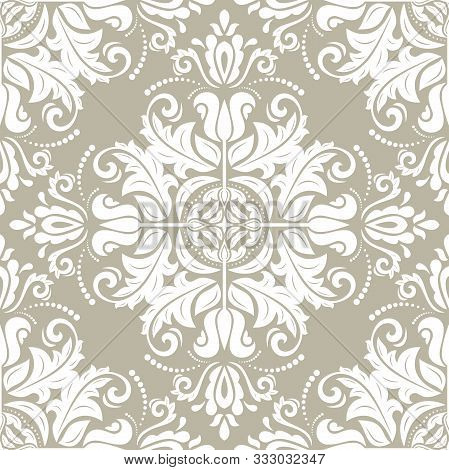 Orient Vector Classic Golden Pattern. Seamless Abstract Background With Vintage Elements. Orient Gol