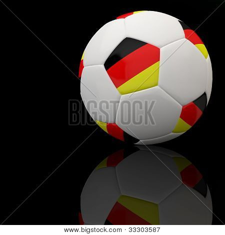 Euro flag on 3d football