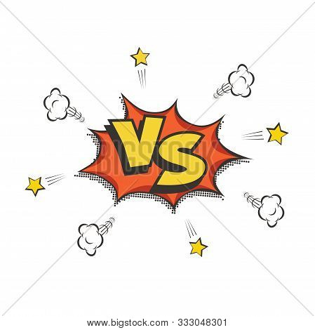 Retro Style Vs Vector Logo. Versus Letters On White Background. Battle, Match, Duel, Competition Con