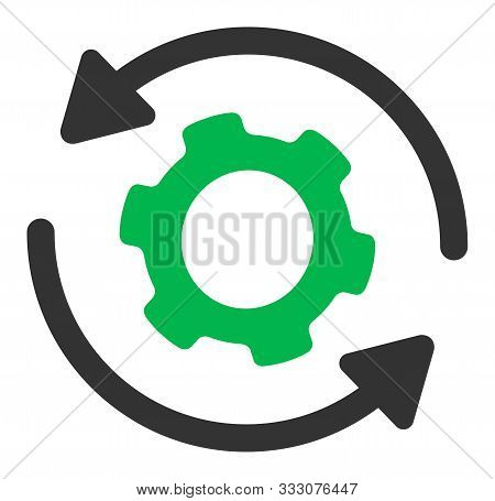 Infinite Rotation Raster Icon. Flat Infinite Rotation Pictogram Is Isolated On A White Background.